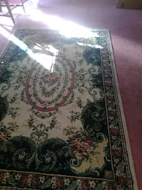 white and red floral area rug Chesapeake, 23322