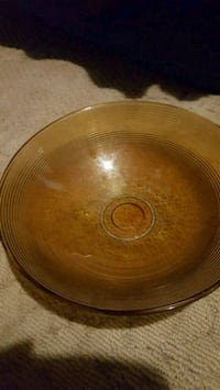 round brown ceramic plate with bowl Bartlesville, 74006
