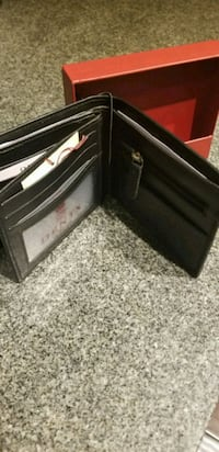 New leather wallet RFID blocking