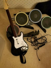 Rock band/ drum set and guitar