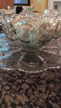 Antique punch bowl and glasses Great Falls, 22066