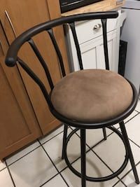Padded Counter Height Bar Stool