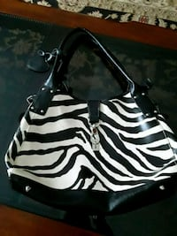 black and white zebra print leather tote bag Myrtle Beach, 29577