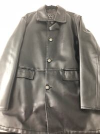 black leather button-up jacket Laval, H7R 2Z6