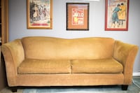 MOVING SALE!! $75 Yellow Velveteen Sofa Falls Church