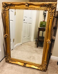 Gorgeous Antique LaBarge Gold Framed Mirror!!