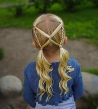 Hair styling Kids partial braid with Curls  Toronto, M9N 1Z9
