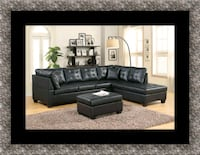 Black sectional with ottoman Bowie, 20720