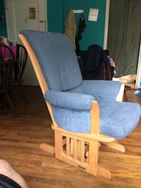 gray and brown wooden armchair Hyattsville, 20783
