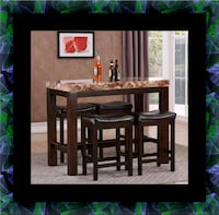 5pc pub table with 4 stools 27 mi