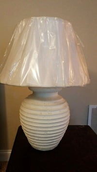 white ceramic base with white lampshade table lamp Augusta, 30906