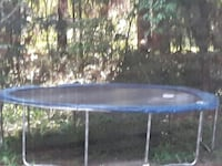 black and blue trampoline with enclosure Elberta, 36530