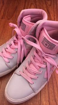 Pair of pink converse all star high-top sneakers Cambridge, N1T 1M4