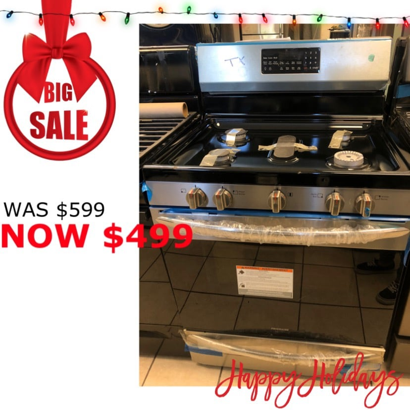 Brand New Frigidaire 5 Burner Gas Range (Scratch and Dent)