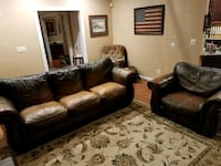 Leather couch and oversized chair Stafford, 22554