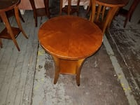 round brown wooden table with one drawer chest Fall River, 02721
