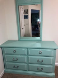 NEGOTIABLE! Teal CUSTOM MADE wooden dresser Bradenton, 34210