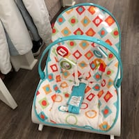 baby's white and blue bouncer Fallbrook, 92028