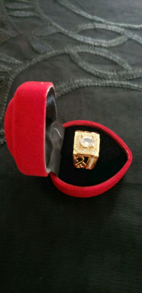 Men's gold plated ring