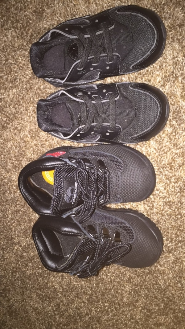28c6b96047eef Used Nike huarache and Timberland size 6c for sale in Havre de Grace - letgo