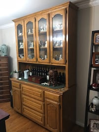 brown wooden china buffet hutch Springfield, 22153