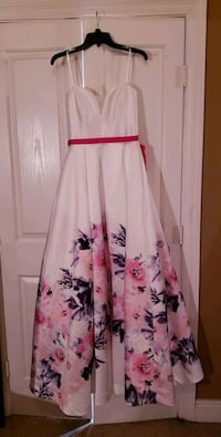 White Floral Prom Dress Youngsville