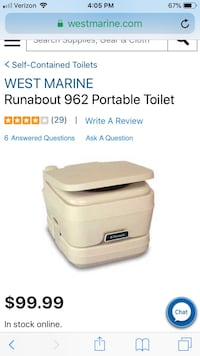 West marine portable toilet brand new Wappingers Falls, 12590