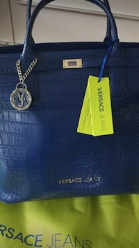 blue Versace Jeans crocodile skin tote bag Washington, 20017