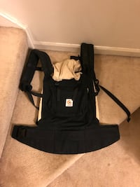 Black and Tan Ergo baby carrier