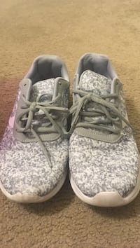 Pair of gray-and-white sneakers Bakersfield, 93312