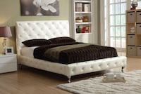 Upholstered Bed in Bonded Leather TORONTO