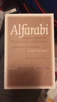 Alfarabi:philosophy of Plato and Aristotle Mc Lean, 22102