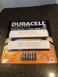 Duracell 2-pack wireless LED under cabinet lights brand new Manassas