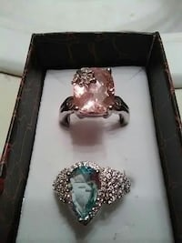 two silver-colored rings with two pink and blue gemstones Lafayette, 70506