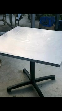 rectangular white wooden table with black metal base Los Angeles, 90003