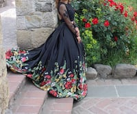 Women's black and red floral traditional dress Petaluma, 94952