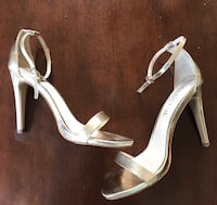 Gold strap heels Bellflower, 90706