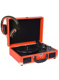 Red Suitcase Turntable