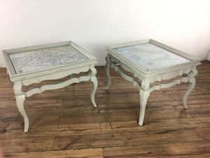 Used Pair Of Distressed French Style End Tables (1015613) For Sale In South  San Francisco   Letgo