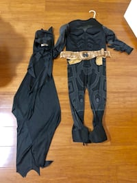 Batman costume kids size 7-8 (no tag) COMPLETE SET Derwood, 20855
