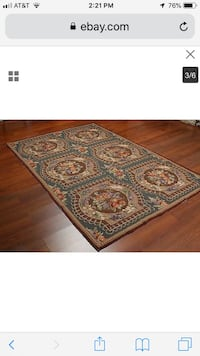 Tapestry wool rug never used
