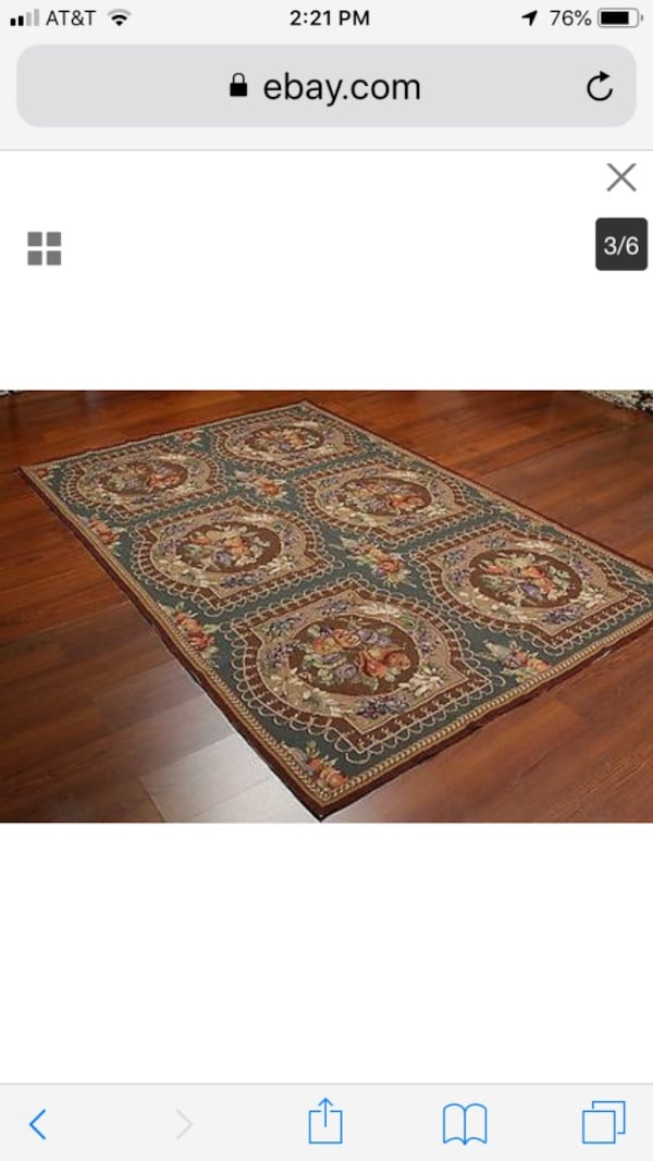 Tapestry wool rug never used  ee5d5446-38f9-4b07-97d0-1f6b45dff6ba