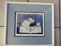 Wood framed BLUE RIBBION signed an numbered by artist.sea shell pictur Myrtle Beach, 29577