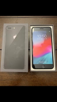 Black iphone 8 plus with box Irving, 75063