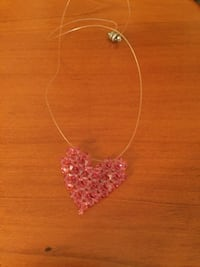 Pink Bead Heart Necklace Asheville, 28806