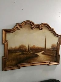 brown wooden framed wall mirror 2056 mi