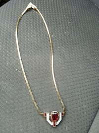 gold chain necklace with red stone Barrie, L4N 9C2