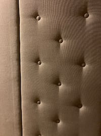 BEAUTIFUL IKEA TUFTED LINEN HEADBOARD ONLY or DIY/REPURPOSE FOR BENCH SEATING El Dorado Hills