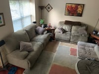 Berkline couch with two electric rekiners and love seat with two manual recliner  Sterling