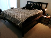 black queen bed frame with mattress/box spring  3724 km